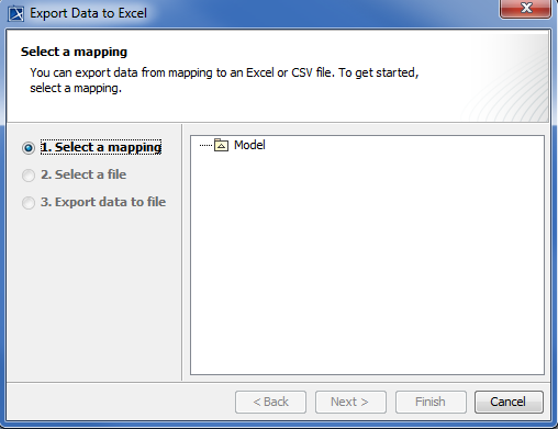Exporting elements to Excel or CSV file using class mapping