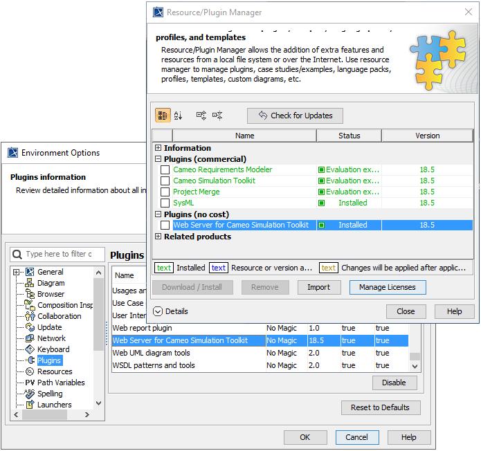 Web Server for Cameo Simulation Toolkit - Cameo Simulation Toolkit