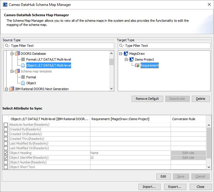 Mapping with Schema Map Manager