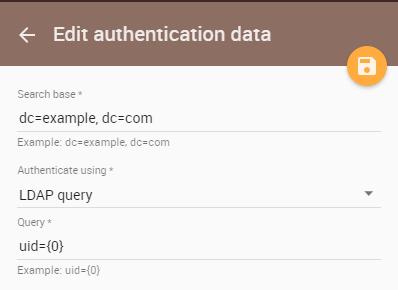 Adding an LDAP server to TWCloud