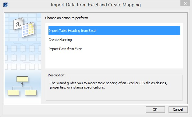 The Excel Import wizard interface