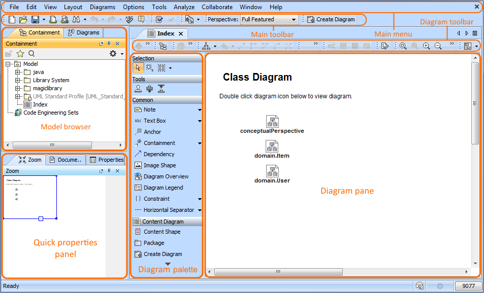 Diagram Palette Pane Watch This Demo To Get Familiar With MagicDraw Working Environment Main Concepts And Functions