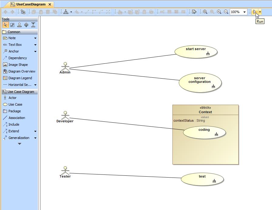 Use case simulation cameo simulation toolkit 184 no magic figure 1 a use case diagram in magicdraws diagram pane ccuart Gallery