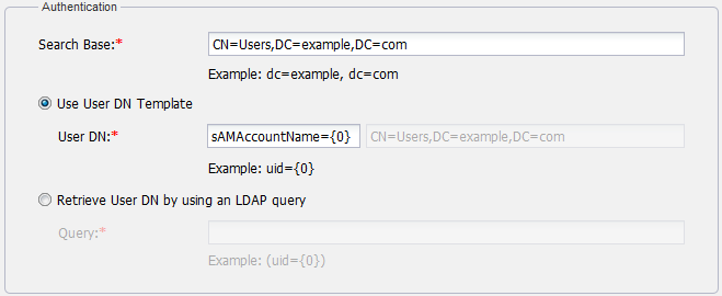 Adding an ldap server to the twcloud system teamwork cloud 184 the ldap authentication configuration yelopaper Gallery
